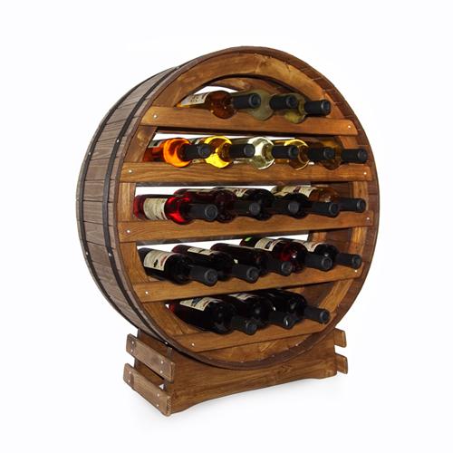 Stojan na víno sud na 21 lahví dub