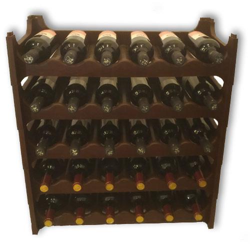 Stojan na víno PL 30 lahví - hnědý