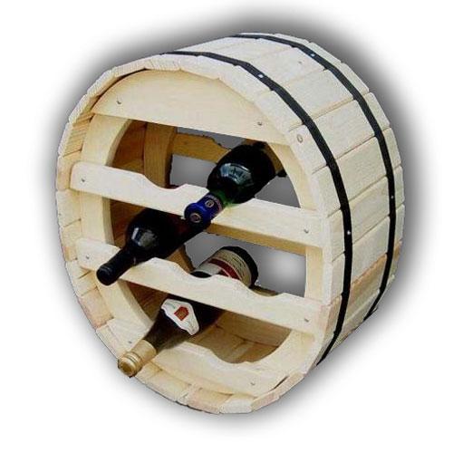 Stojan na víno sud na 7 lahví