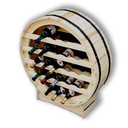 Stojan na víno sud na 21 lahví