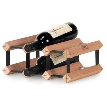 Stojan na víno na 6 lahví